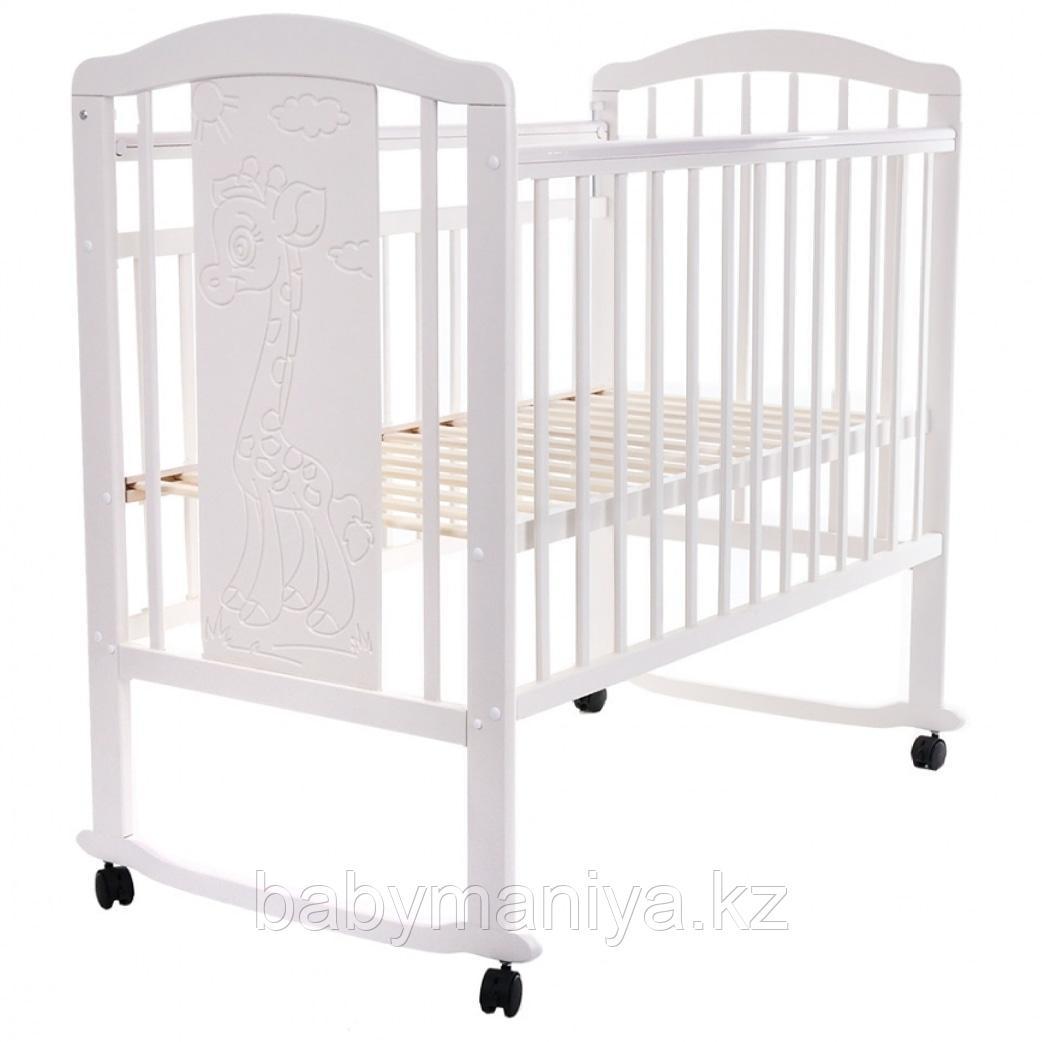 Кроватка детская Pituso Noli Жирафик белый