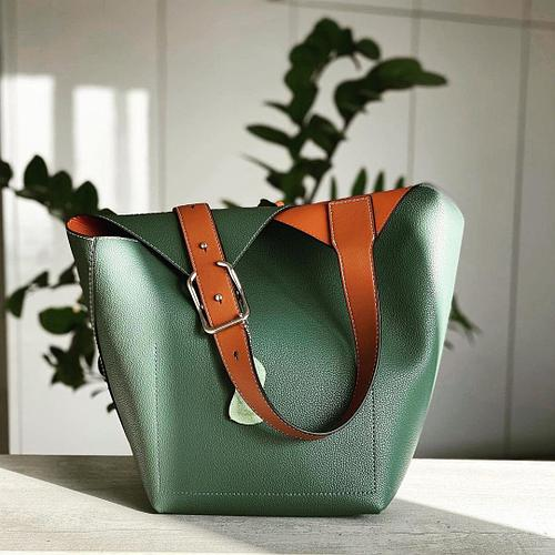 Сумка шоппер зеленый