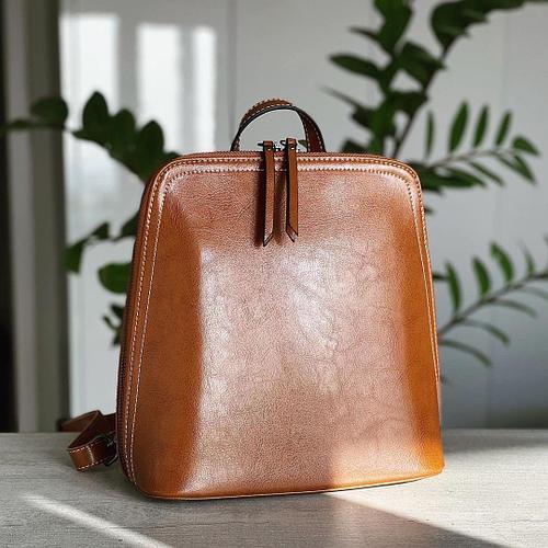 Женский рюкзак черный Коричневый