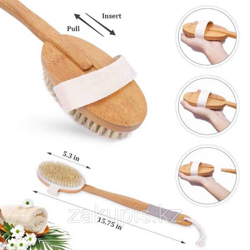 Щётка для спины деревянная