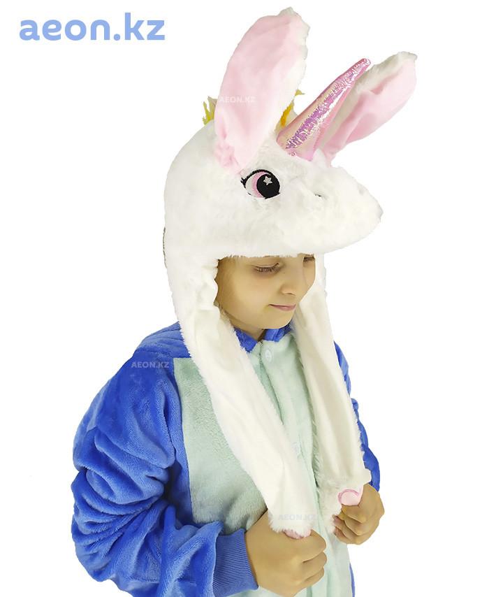 Шапочка Белый Единорог светящаяся с подвижными ушками