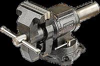 Тиски ЗУБР ЭКСПЕРТ-3D, 100 мм, многофункциональные слесарные тиски с поворотом в двух плоскостях на 360°