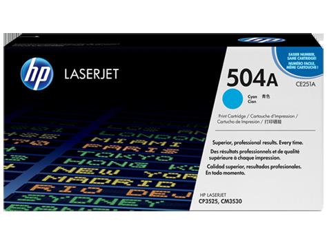 HP CE251A Картридж лазерный HP 504A голубой, ресурс 7000 стр