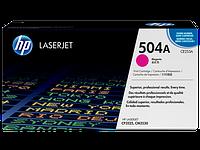 HP CE253A Картридж лазерный HP 504A пурпурный, ресурс 7000 стр