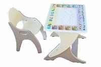 Набор детской мебели на регулируемом основании (Прямоугольная столешница)