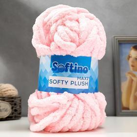 Пряжа фантазийная 100 полиэстер 'Softy plush maxi' 250 гр 22 м розовое кружево - фото 1