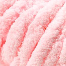 Пряжа фантазийная 100 полиэстер 'Softy plush maxi' 250 гр 22 м розовое кружево - фото 3