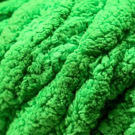 Пряжа фантазийная 100 полиэстер 'Softy plush maxi' 250 гр 22 м травяной зелёный - фото 3