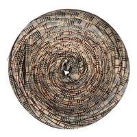 Пряжа трикотажная широкая 100м/320±15гр, ширина нити 7-9 мм (клетка бежевая)