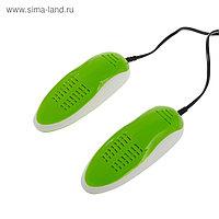 Сушилка для обуви Sakura SA-8153WGR, 60-75°С, арома-пластик, антибакт., зелено-белый