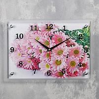 "Часы настенные, серия: Цветы, ""Герберы"", 25х35 см, микс"