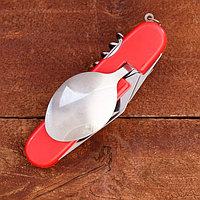 Набор туриста составной 5в1 рукоять красная пластик 11см