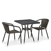 Комплект плетеной мебели T282BNT/Y137C-W53 Brown 2Pcs