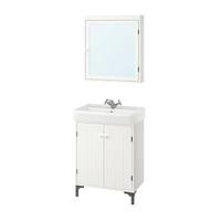 Комплект мебели для ванной СИЛВЕРОН / ХЭМНВИКЕН белый 63 см. ИКЕА, IKEA