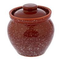 Горшочек традиционный «Мрамор коричневый», 0,6 л