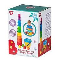 Развивающая игрушка PlayGo Пирамидка и Ведерко-сортер 2381