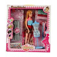 Набор для создания кукольного платья Bradex Я дизайнер с куклой DE 0208