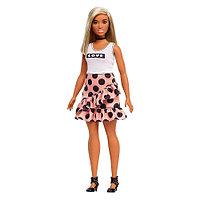 Кукла Barbie Игра с модой В юбке в горох и белом топе, 29 см, FXL51