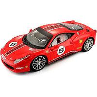 Модель автомобиля Bburago Феррари 458 гоночная 18-26302 1:24