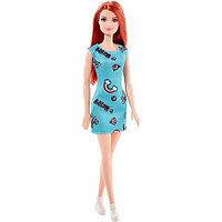 Кукла Barbie в бирюзовом платье с радугой, 29 см, FJF18