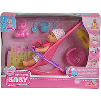 Кукла Simba Пупс с коляской и аксессуарами 10 5030928