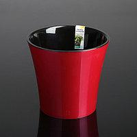 Кашпо со вставкой «Арте», 2 л, цвет красно-чёрный, фото 1