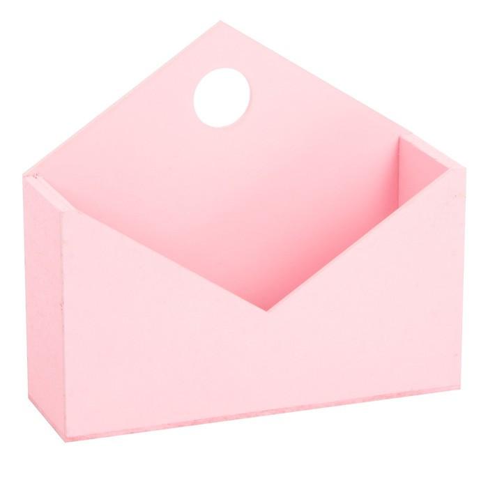 Ящик‒конверт № 1 пастельный розовый, 20,5 × 18 × 6 см