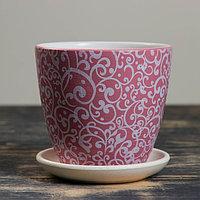 Горшок цветочный Скань розовый крокус №1, 0,7 л, фото 1