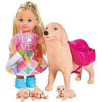 Кукла Simba Еви с собачкой и щенками, 12 см 10 5733072