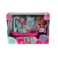 Куколка Simba Эви с собачкой в ванной комнате, 12 см 10 5733094