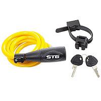 Велозамок STG CL-428 1х150см yellow Х83380