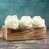Кашпо деревянное 24×14×9 см Элегант, обжиг Дарим Красиво