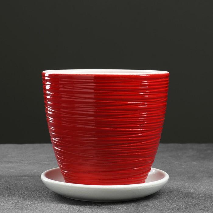 Горшок цветочный Шорвель красный крокус №1 0,7 л