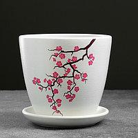 Горшок цветочный Сакура белый крокус №2 1,4 л, фото 1