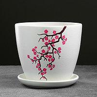 Горшок цветочный Сакура белый крокус №3 2,3 л, фото 1