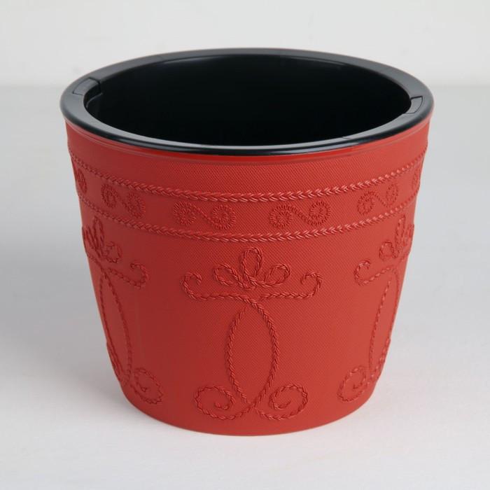Кашпо со вставкой «Ажур», 3 л, цвет терракот