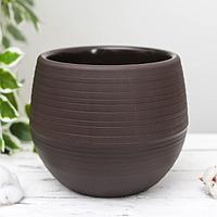 Горшок для цветов «Япония» 3 л, цвет темно-коричневый, фото 1