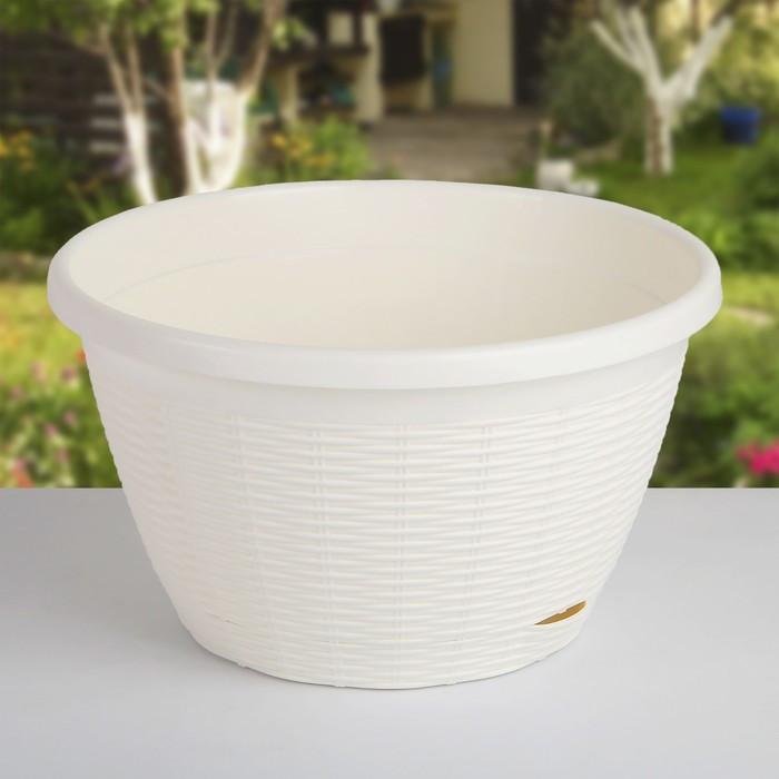 Кашпо с прикорневым поливом 4,5 л, цвет белый