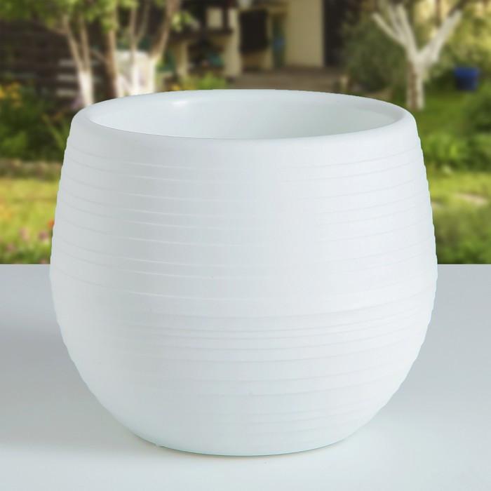 Горшок для цветов «Япония» 3 л, цвет белый