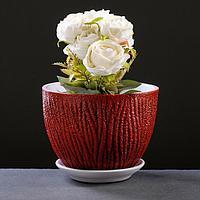 Горшок цветочный Кора красный, 3 л, фото 1