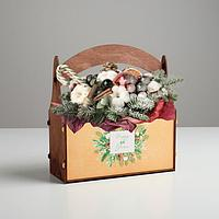 """Кашпо флористическое новогоднее """"Бычок"""" 23*9,5*26,5, фото 1"""