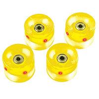 Набор колес для пенниборда с подсветкой Atemi AW-18.01 yellow