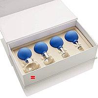Косметические вакуумные банки для массажа лица 4шт Pro facefit cups