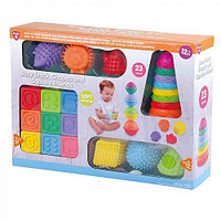 Развивающий набор PlayGo Мягких кубиков, формочек и животных 24096