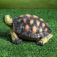 """Садовая фигура """"Черепаха Ник"""", зелёно-коричневый цвет, 10 см, фото 1"""