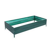 Грядка оцинкованная, 200 × 100 × 30 см, зелёная, фото 1