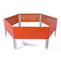 Клумба оцинкованная, d = 80 см, h = 15 см, оранжевая, фото 1