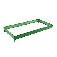 Грядка оцинкованная, 195 × 100 × 15 см, зелёная, Greengo