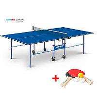 Теннисный стол Olympic с сеткой - стол для настольного тенниса для частного использования со встроенной сеткой