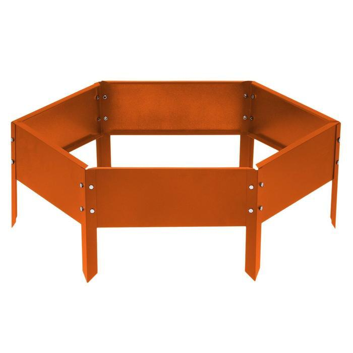 Клумба оцинкованная, d = 100 см, h = 15 см, оранжевая